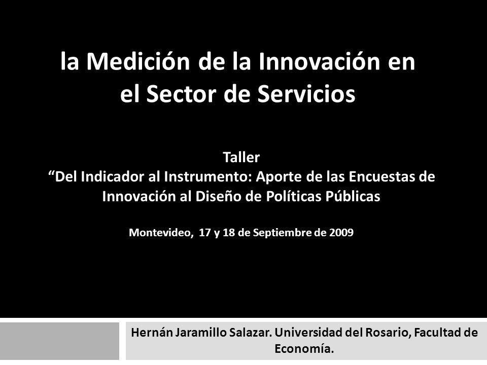la Medición de la Innovación en el Sector de Servicios