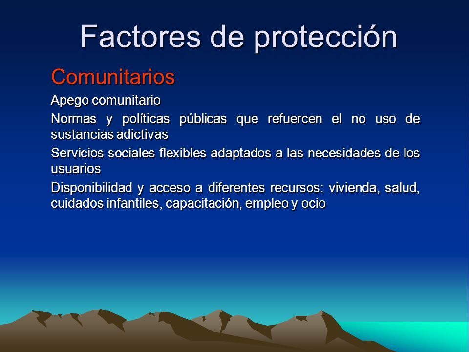 Factores de protección
