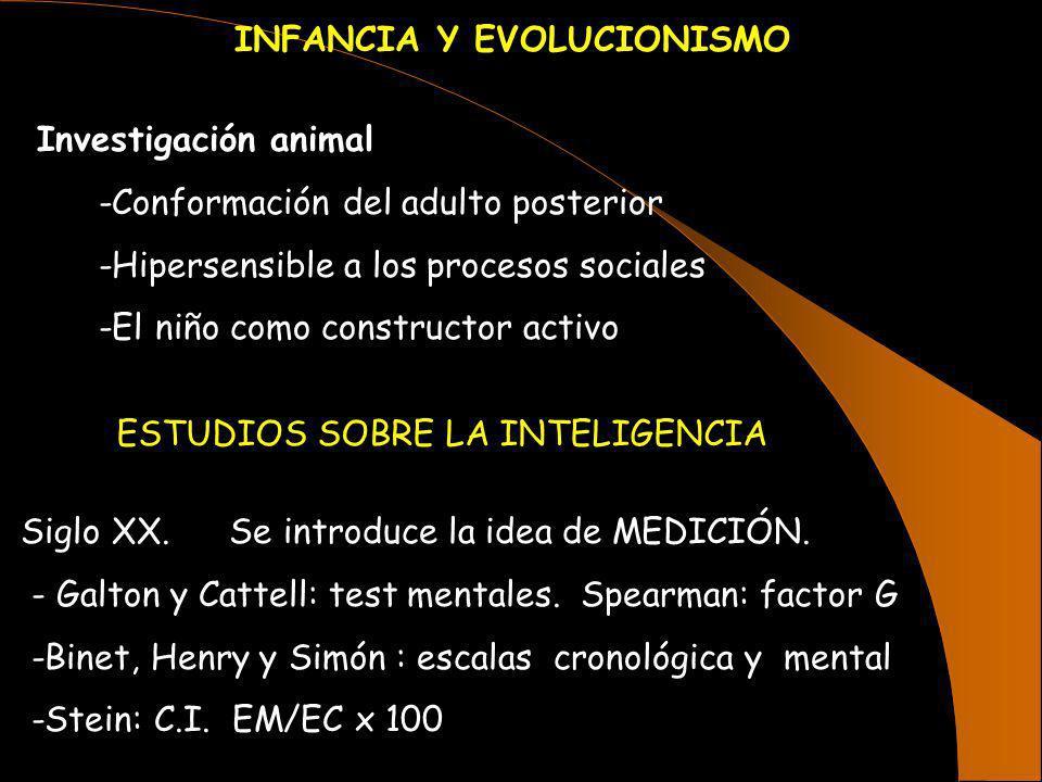 INFANCIA Y EVOLUCIONISMO