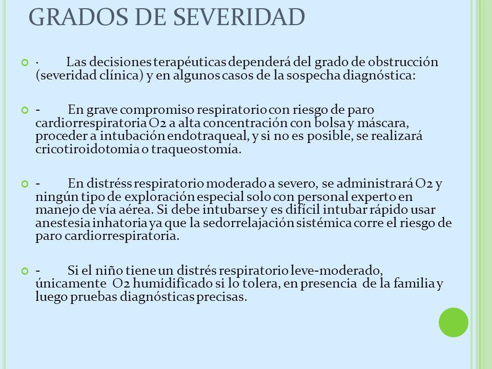 GRADOS DE SEVERIDAD
