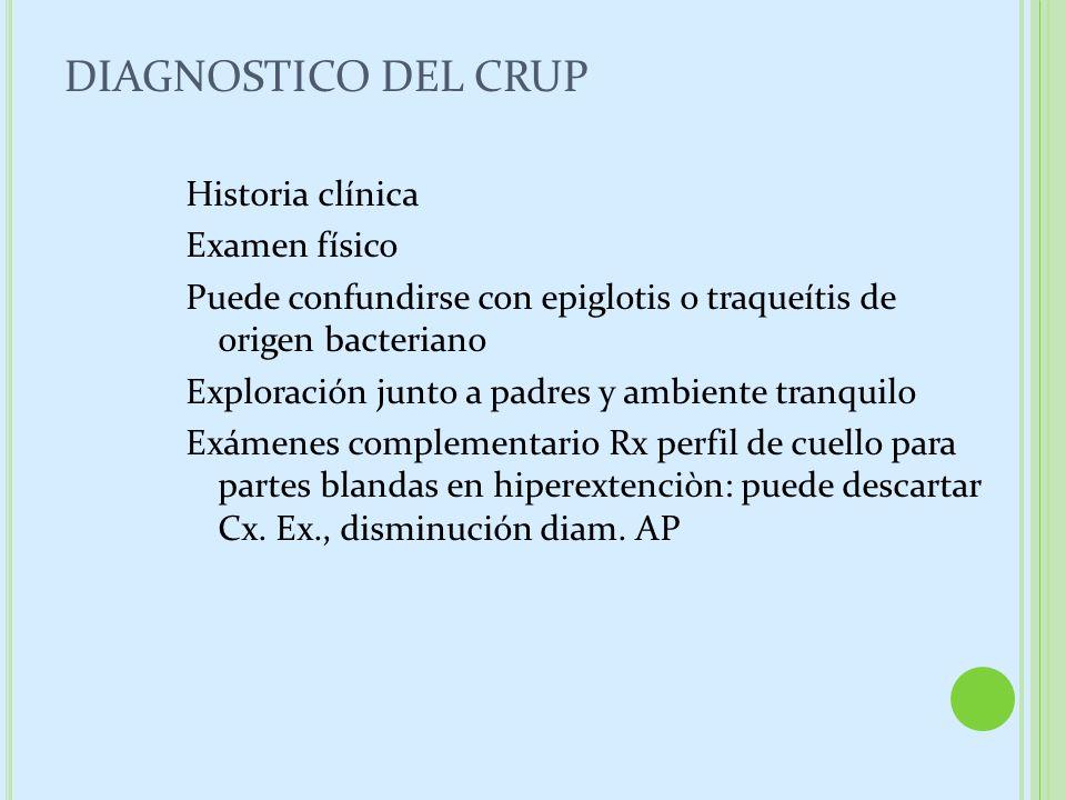 DIAGNOSTICO DEL CRUP
