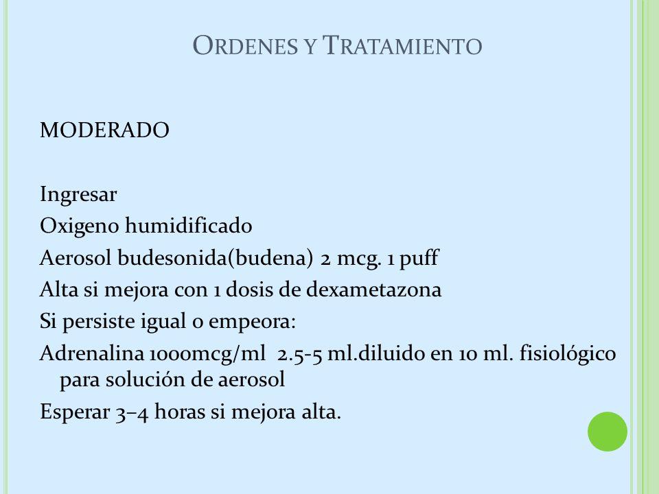 Ordenes y Tratamiento