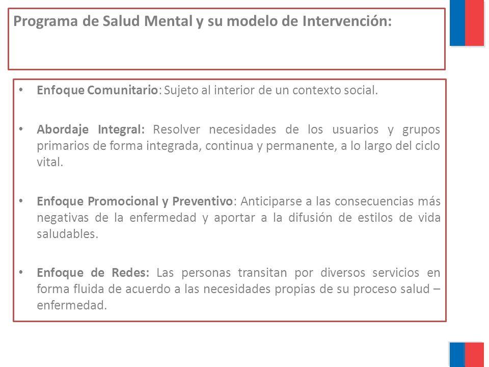 Programa de Salud Mental y su modelo de Intervención: