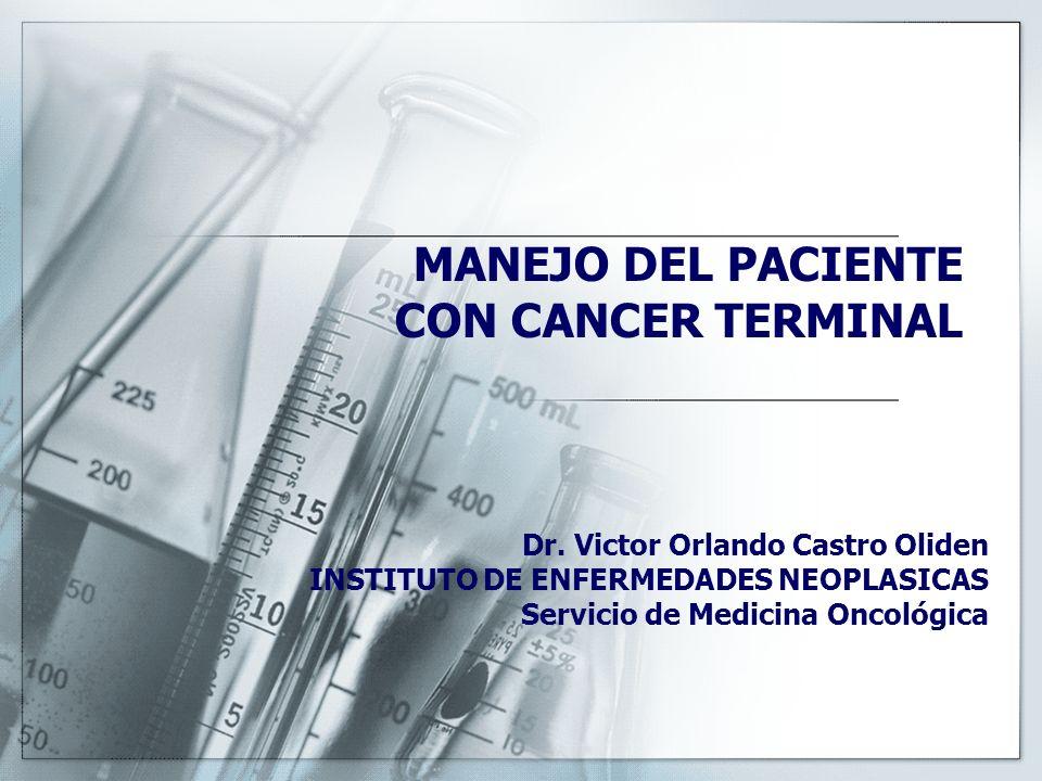 MANEJO DEL PACIENTE CON CANCER TERMINAL