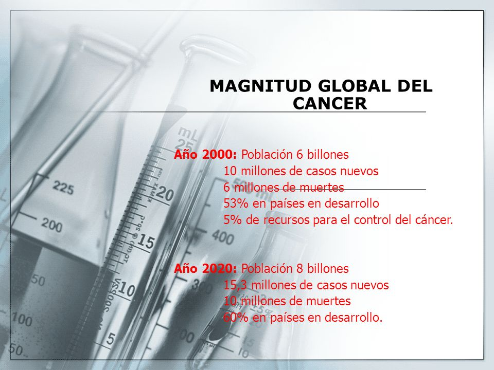 MAGNITUD GLOBAL DEL CANCER