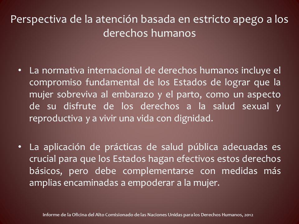 Perspectiva de la atención basada en estricto apego a los derechos humanos