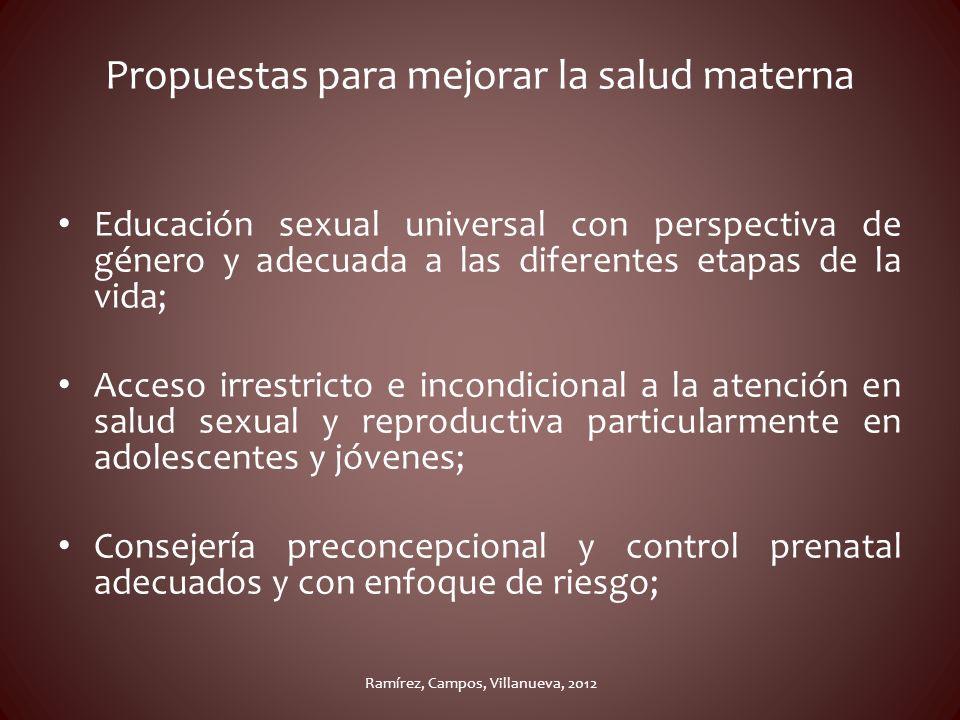 Propuestas para mejorar la salud materna