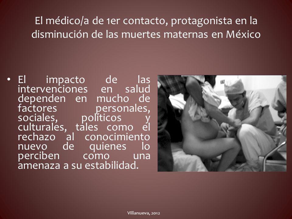 El médico/a de 1er contacto, protagonista en la disminución de las muertes maternas en México