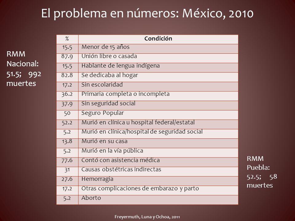 El problema en números: México, 2010