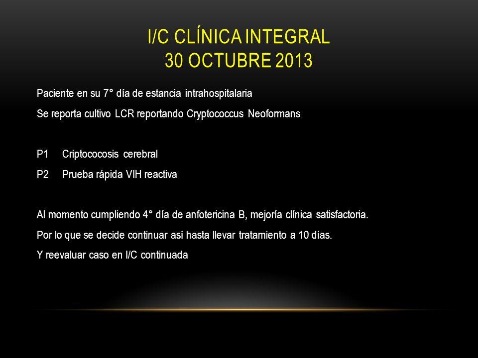 I/C clínica integral 30 octubre 2013