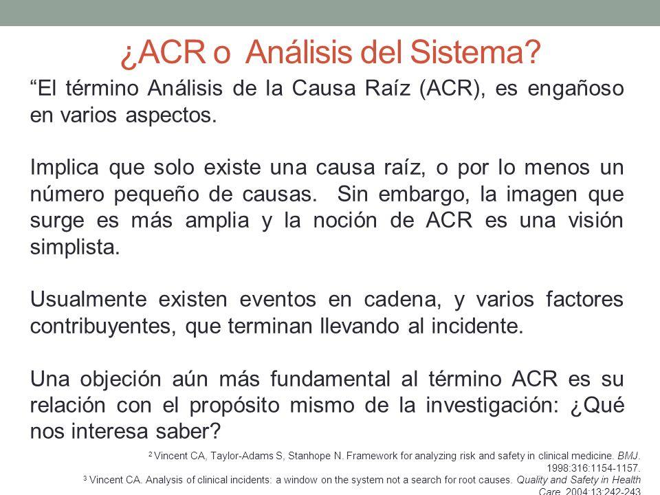 ¿ACR o Análisis del Sistema