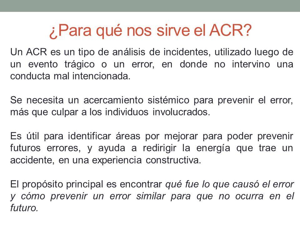 ¿Para qué nos sirve el ACR