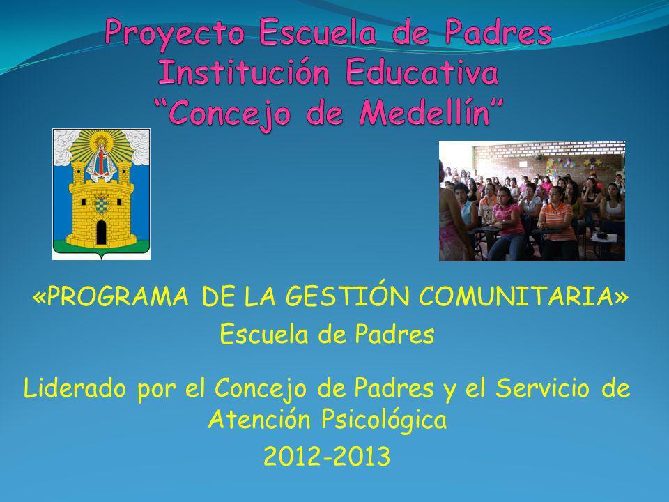 Proyecto Escuela de Padres Institución Educativa Concejo de Medellín
