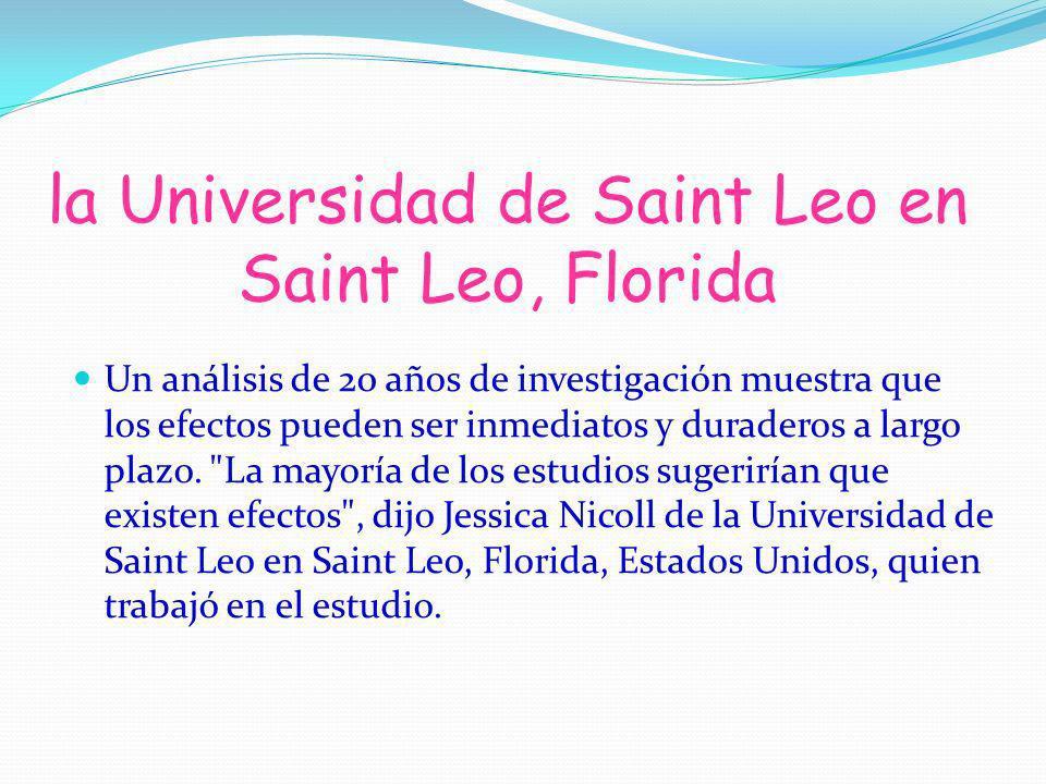 la Universidad de Saint Leo en Saint Leo, Florida