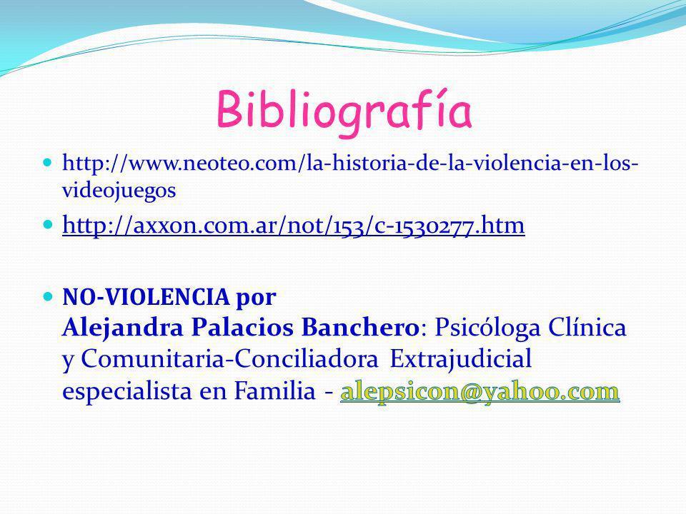 Bibliografía http://axxon.com.ar/not/153/c-1530277.htm