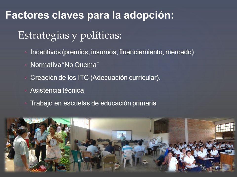Factores claves para la adopción: