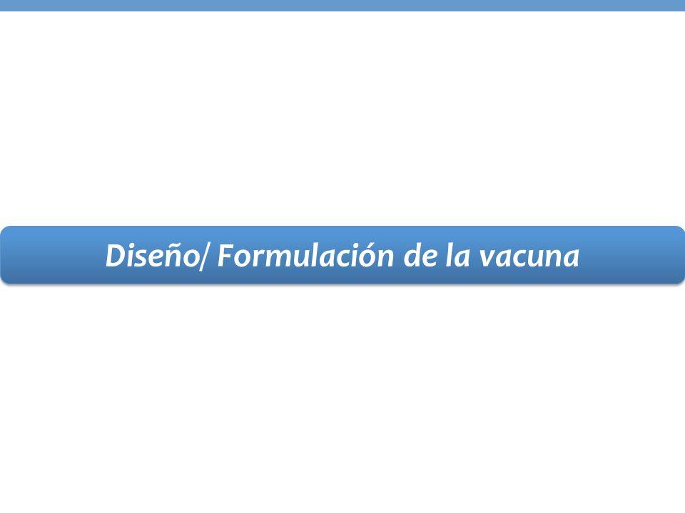 Diseño/ Formulación de la vacuna