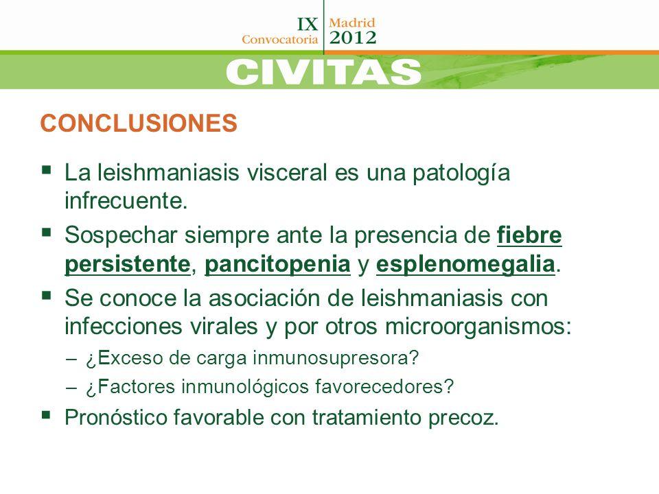 CONCLUSIONES La leishmaniasis visceral es una patología infrecuente.