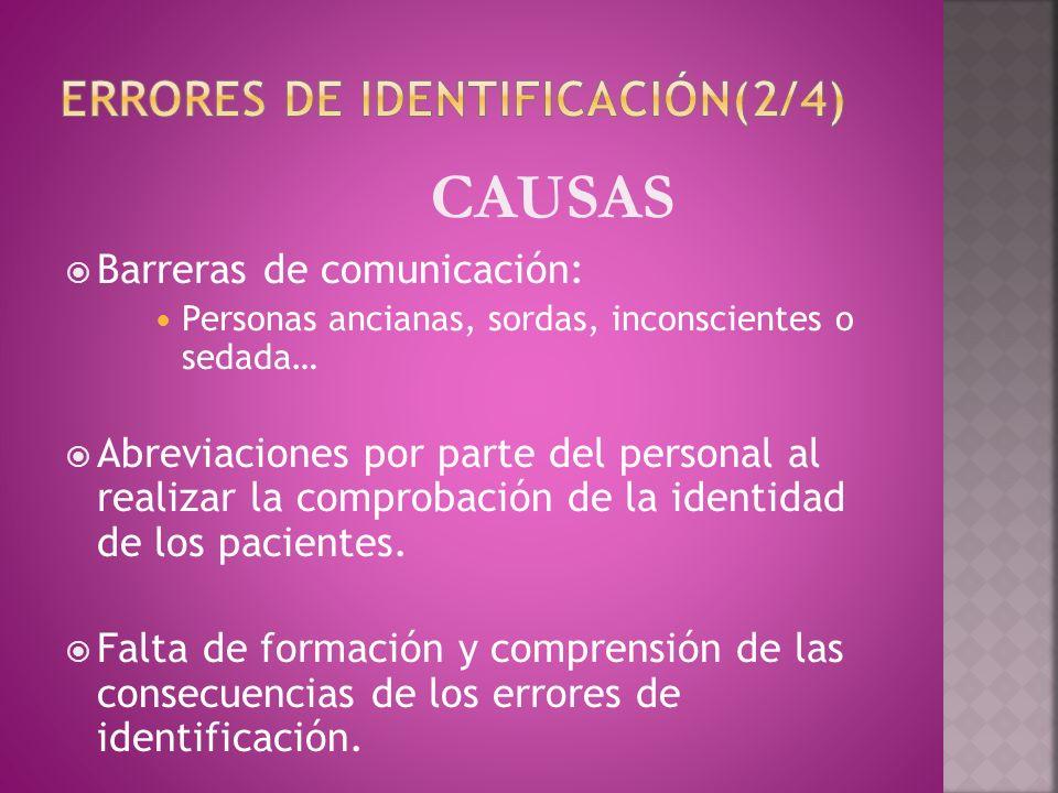 Errores de identificación(2/4)