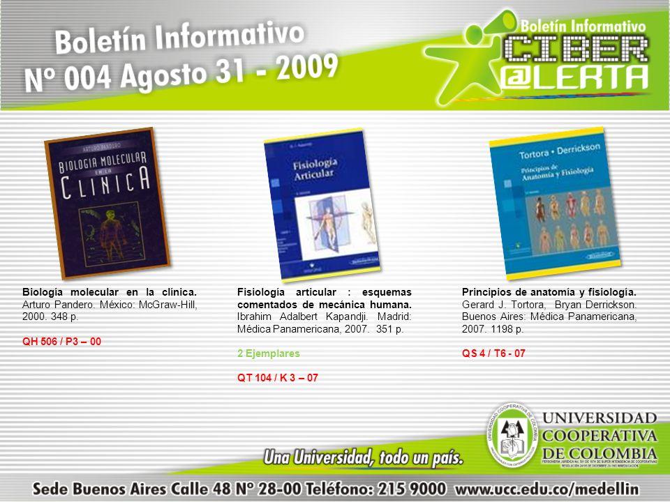 Biología molecular en la clínica. Arturo Pandero