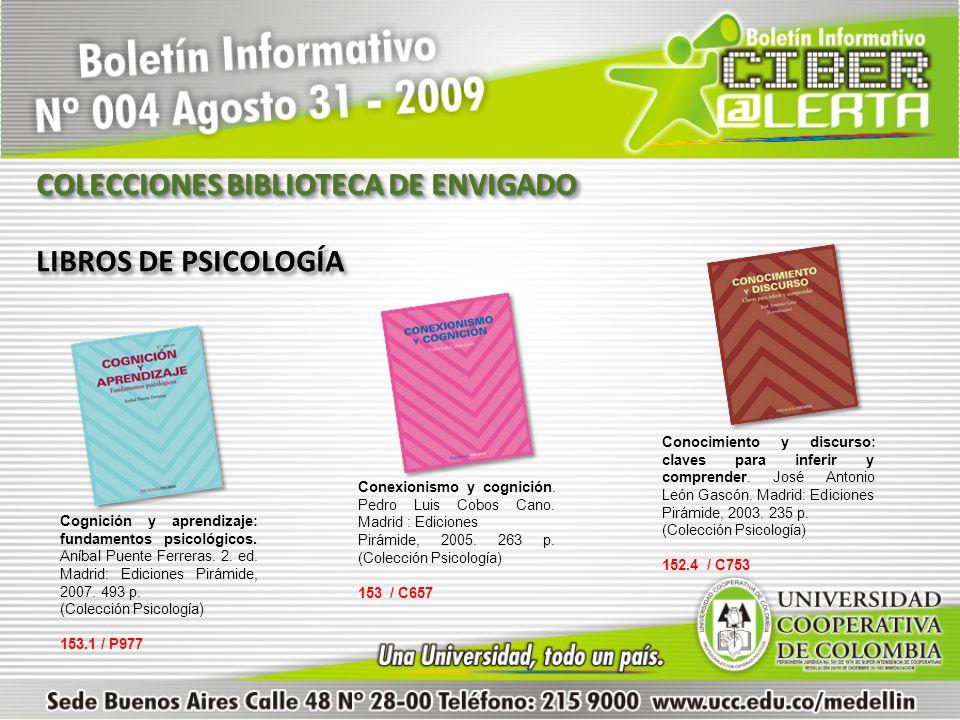 COLECCIONES BIBLIOTECA DE ENVIGADO LIBROS DE PSICOLOGÍA
