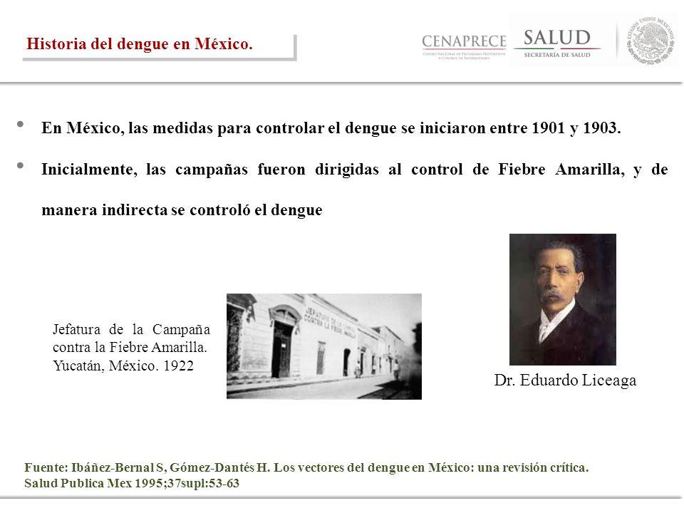 Historia del dengue en México.