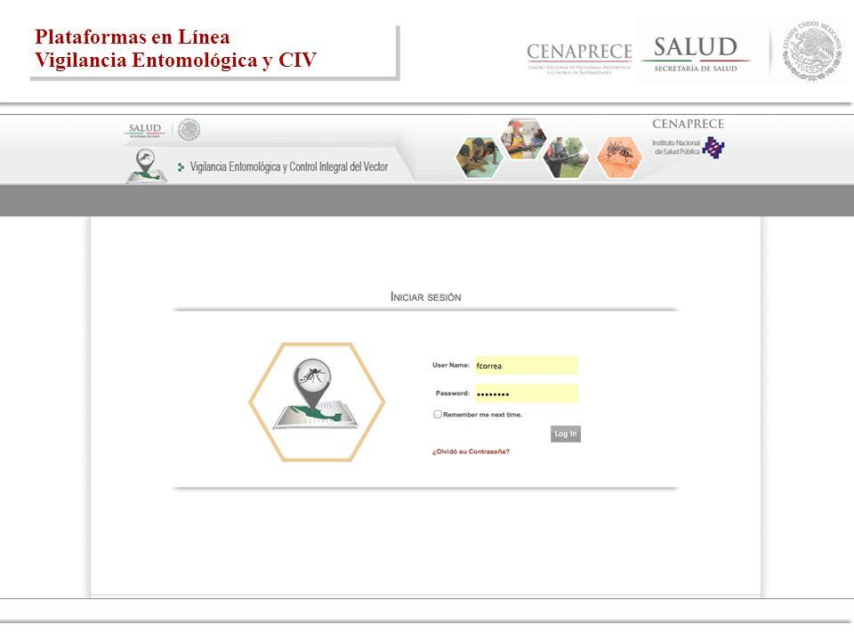 Plataformas en Línea Vigilancia Entomológica y CIV