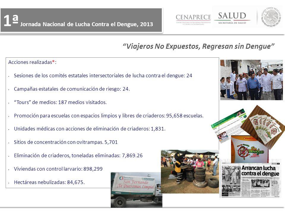 1ª Jornada Nacional de Lucha Contra el Dengue, 2013