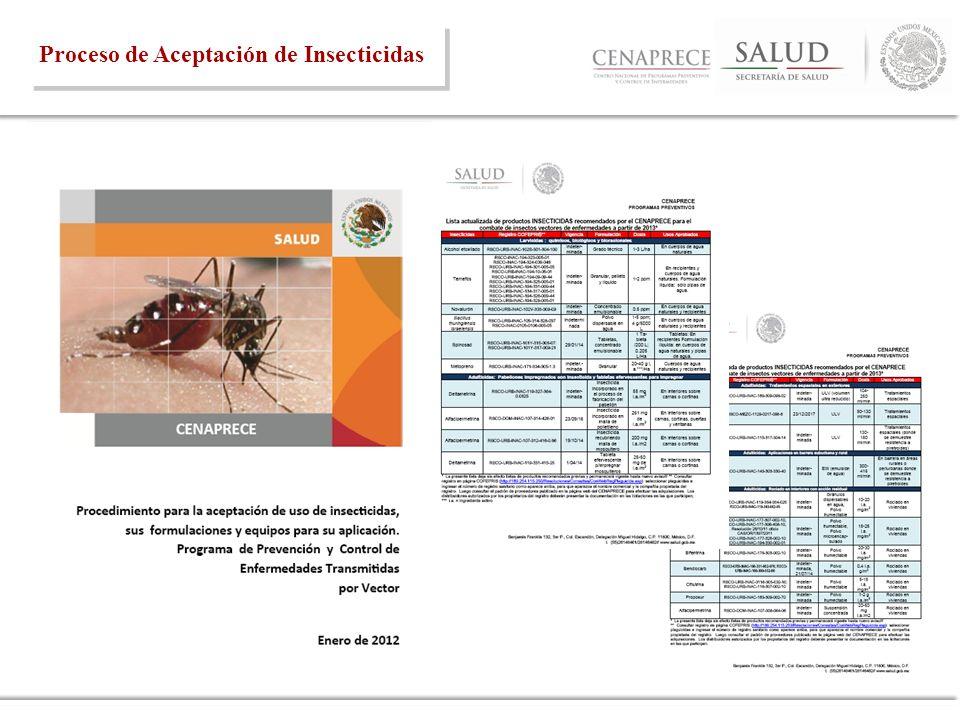 Proceso de Aceptación de Insecticidas