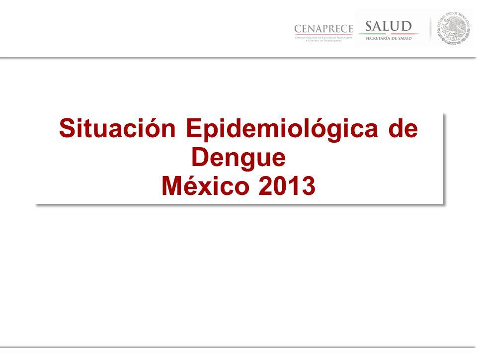 Situación Epidemiológica de Dengue