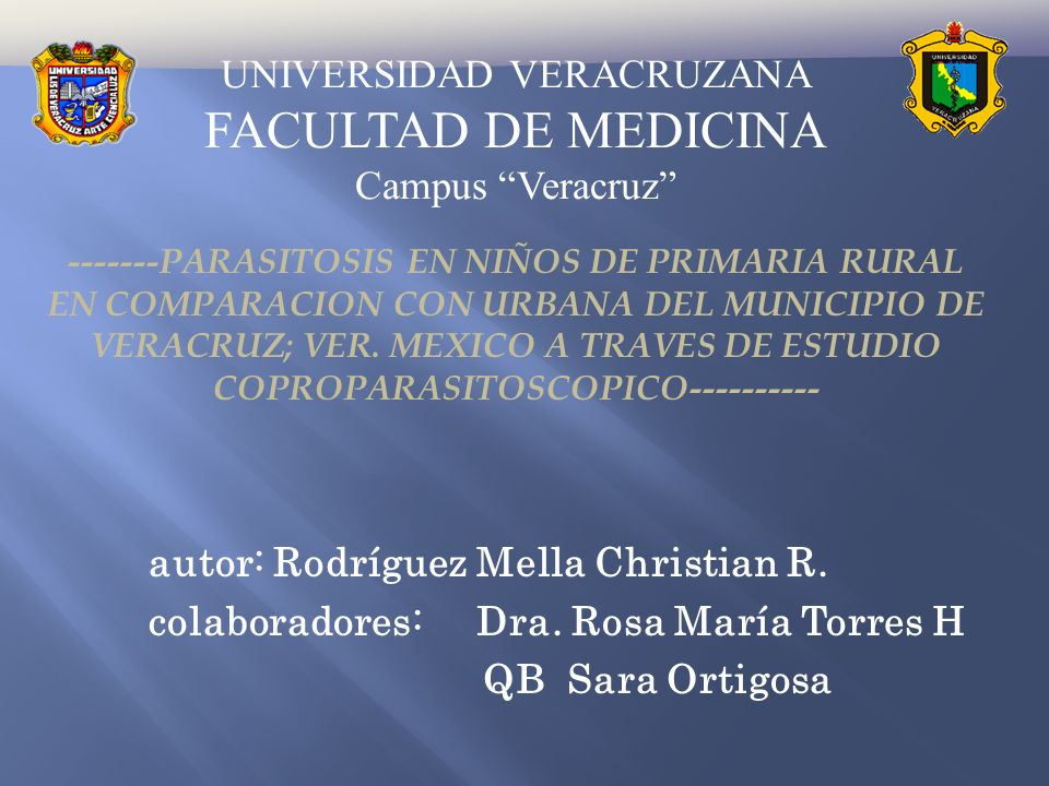 UNIVERSIDAD VERACRUZANA FACULTAD DE MEDICINA