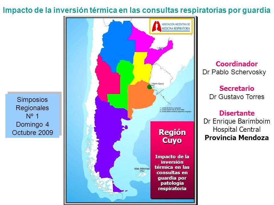 Impacto de la inversión térmica en las consultas respiratorias por guardia