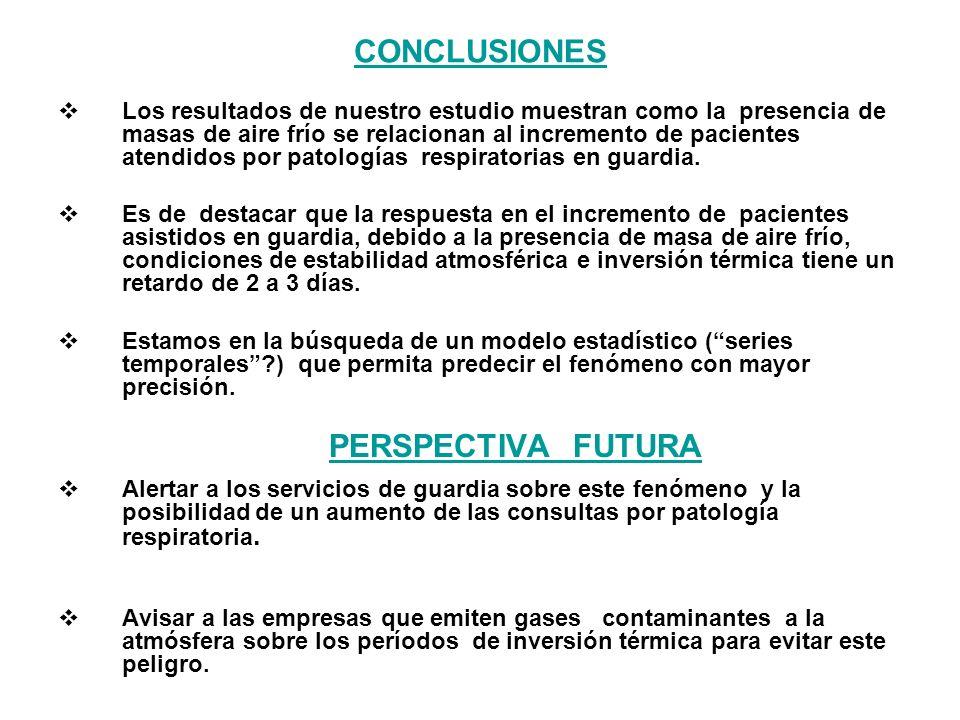 CONCLUSIONES PERSPECTIVA FUTURA