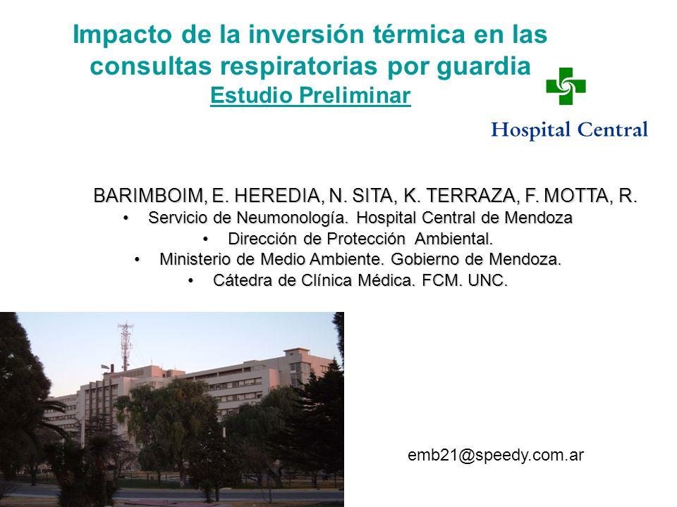 Impacto de la inversión térmica en las consultas respiratorias por guardia Estudio Preliminar
