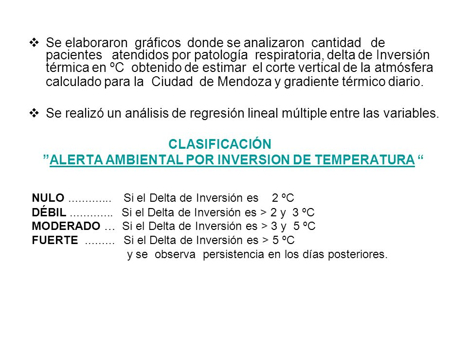 ALERTA AMBIENTAL POR INVERSION DE TEMPERATURA