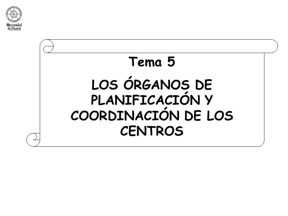 LOS ÓRGANOS DE PLANIFICACIÓN Y COORDINACIÓN DE LOS CENTROS