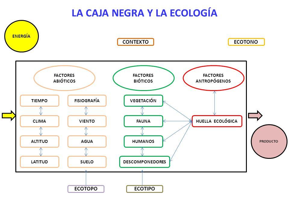 LA CAJA NEGRA Y LA ECOLOGÍA