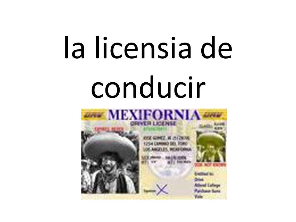 la licensia de conducir