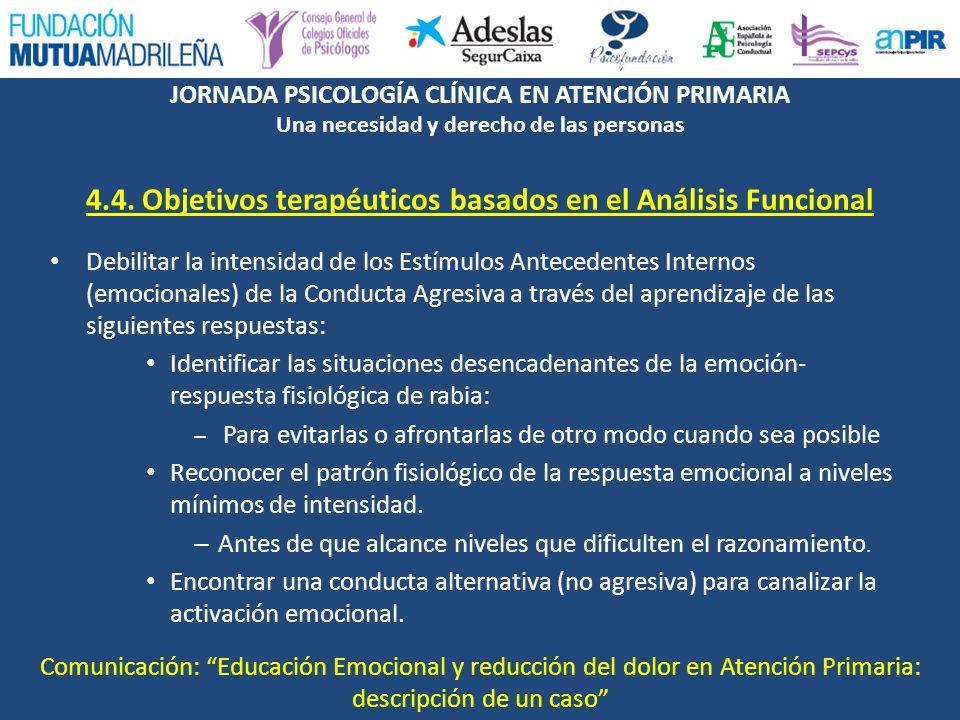 4.4. Objetivos terapéuticos basados en el Análisis Funcional