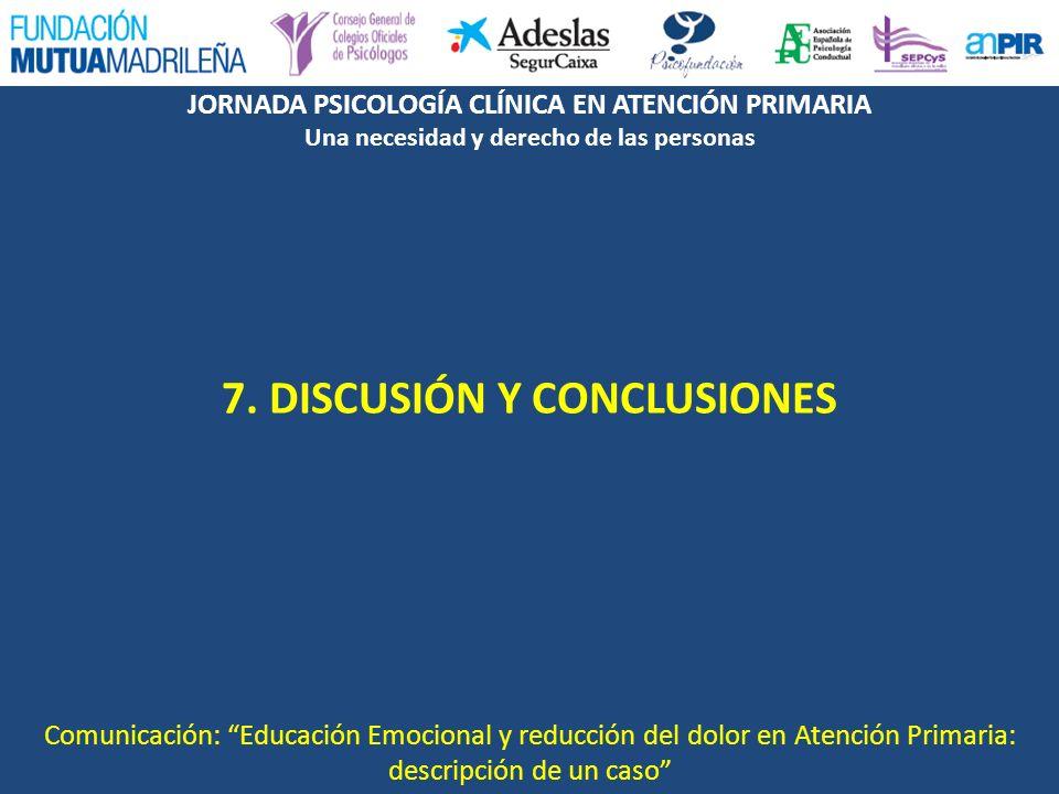 7. DISCUSIÓN Y CONCLUSIONES