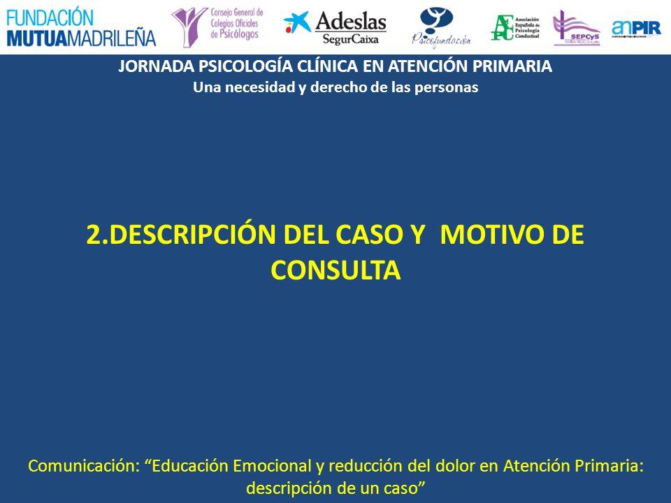 2.DESCRIPCIÓN DEL CASO Y MOTIVO DE CONSULTA