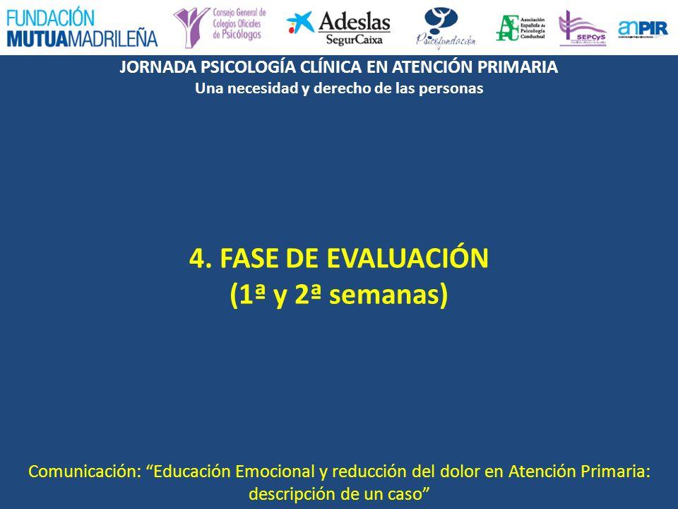 4. FASE DE EVALUACIÓN (1ª y 2ª semanas)
