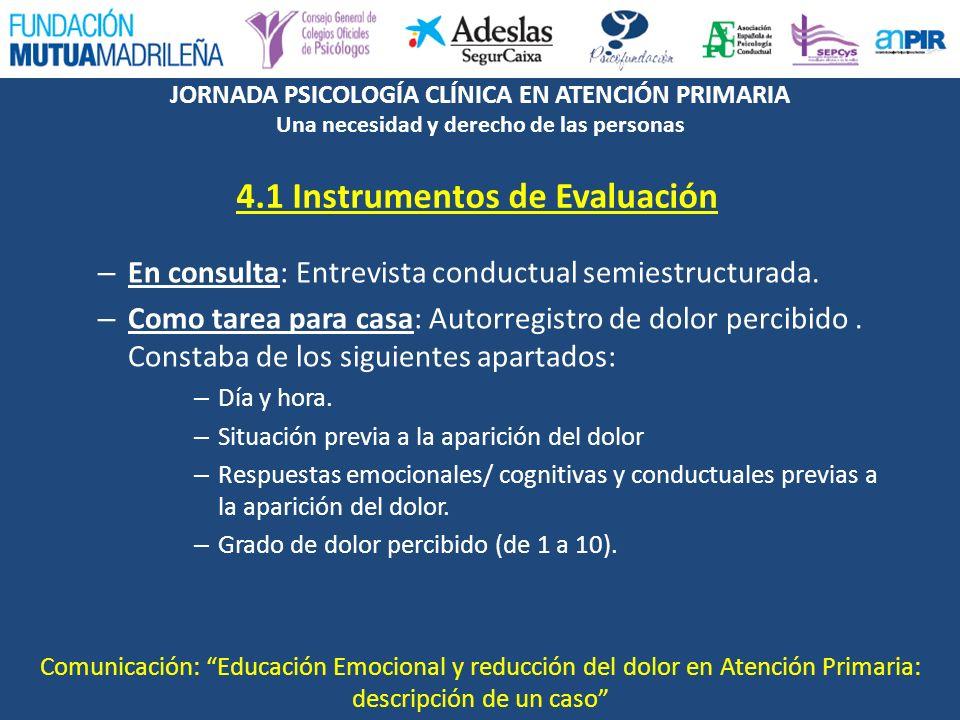 4.1 Instrumentos de Evaluación