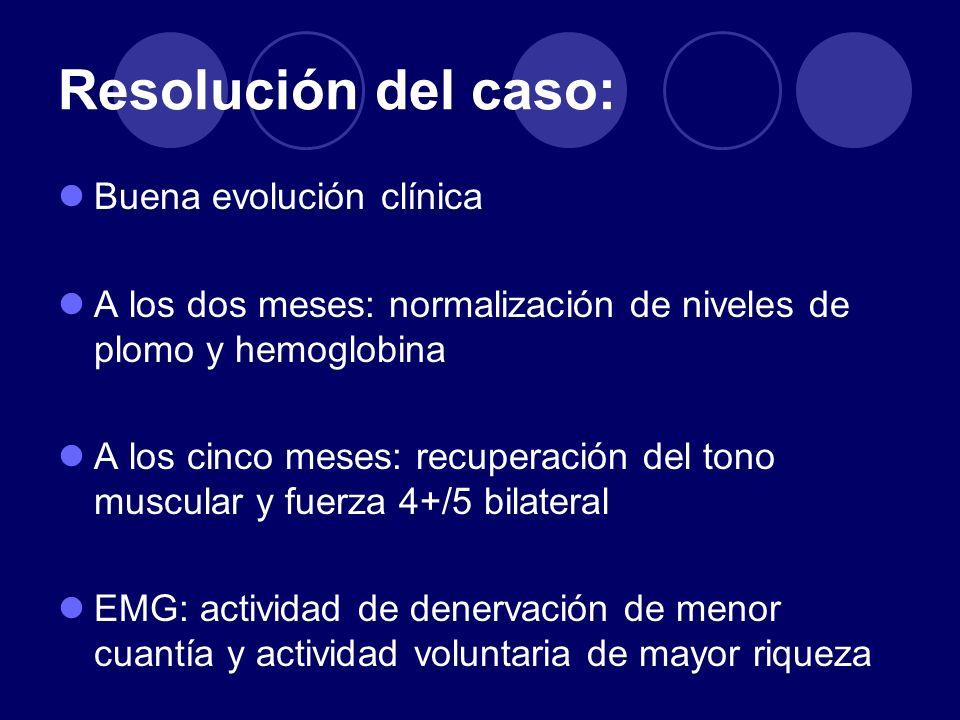 Resolución del caso: Buena evolución clínica