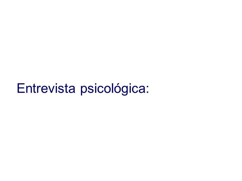 Entrevista psicológica: