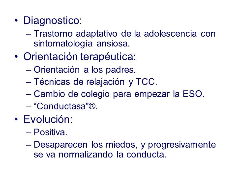Orientación terapéutica: