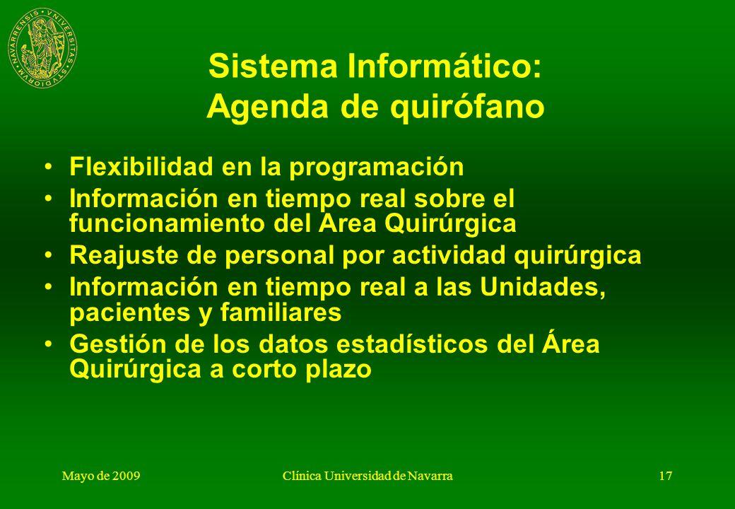 Sistema Informático: Agenda de quirófano