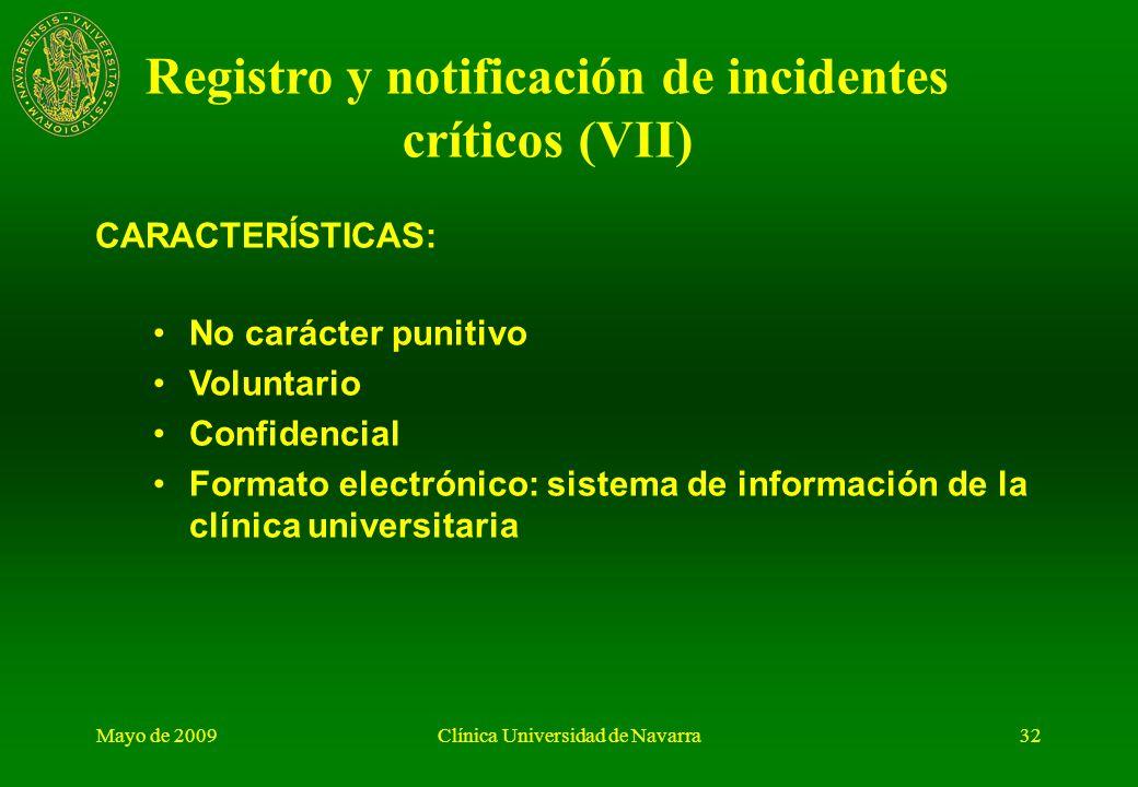 Registro y notificación de incidentes críticos (VII)