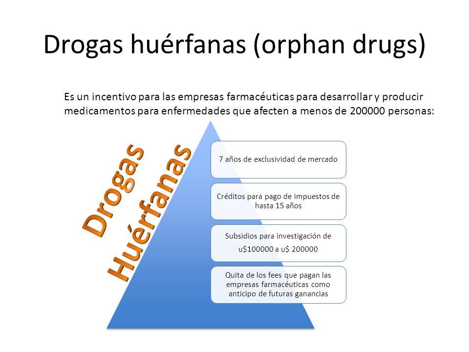 Drogas huérfanas (orphan drugs)