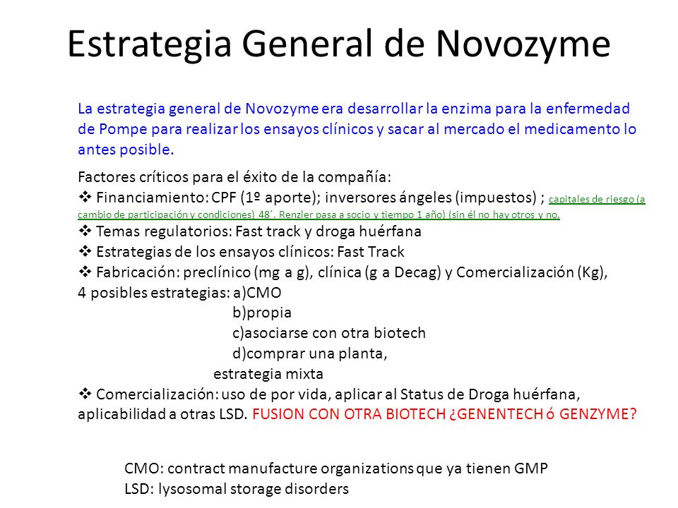 Estrategia General de Novozyme